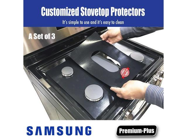 Samsung Stove Protector Liners for Model NX58F5500SW/AA-01 - Stove Top Protector for Samsung Gas ranges - Customized - Easy Cleaning Stove Liners photo