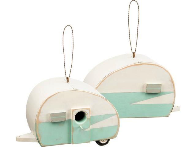 NEW~Wood Camper Bird House~Cabin/Beach/Cottage Chic/Shabby/Lodge/Distressed (998380866654 Home & Garden Decor) photo