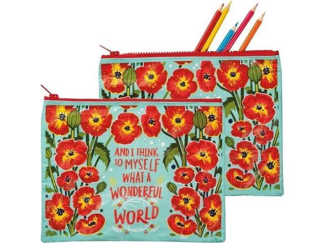 Zipper Folder~'And I Think To Myself What A Wonderful World'~coin purse/pouch (998380665196 Home & Garden Decor) photo