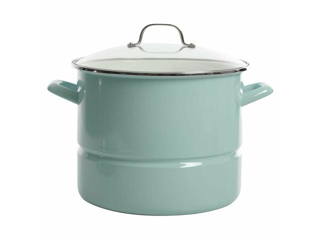 Kenmore Broadway Stainless Steel 16 Quart Steamer Stock Pot with Insert and Lid photo