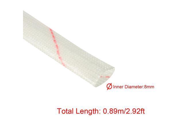 8 Pieces 82cm Long 8mm Dia PVC Fiberglass Insulating Sleeving