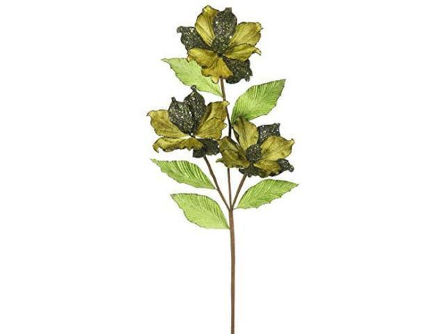 Vickerman 33' Olive Magnolia Artificial Christmas Flower 6 per Box photo