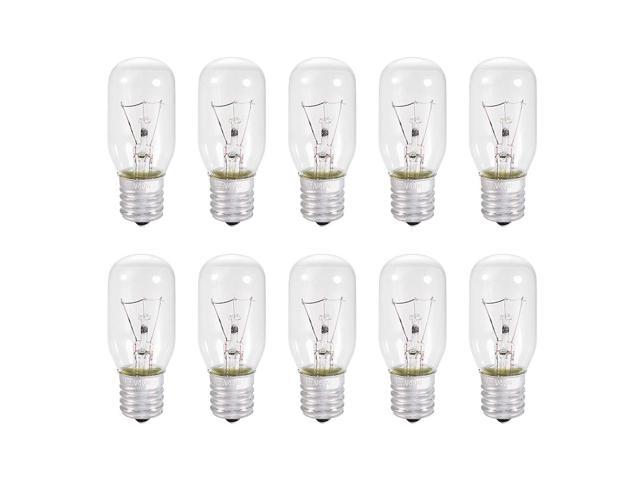 uxcell 10pcs T25 E17 Microwave Replacement Bulbs for Most Ge Ovens Replaces Part Fits Intermediate E17 Base - 40W / AC 110v-130v Yellow Warm Light photo