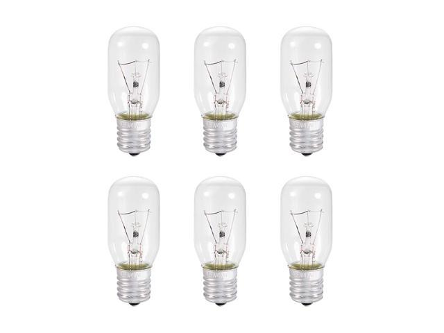 uxcell 6pcs T25 E17 Microwave Replacement Bulbs for Most Ge Ovens Replaces Part Fits Intermediate E17 Base - 40 W/AC 110v-130v Yellow Warm Light photo