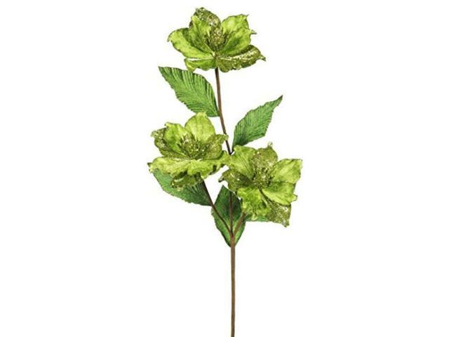 Vickerman 33' Lime Magnolia Artificial Christmas Flower 6 per Box photo