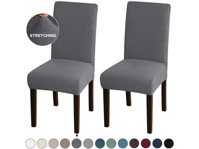Turquoize Stretch Dining Room Chair Slipcovers Washable Removable High Chair Protector Cover Seat Slipcover for Hotel Ceremony Banquet Wedding Partym Set of 2 Dining Room