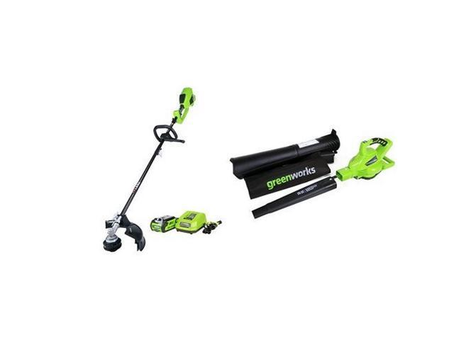 Greenworks DigiPro G-MAX 40V Cordless String Trimmer and Blower/Vac, 2Ah Li-Ion Battery (993265347037 Home & Garden Lawn & Garden) photo