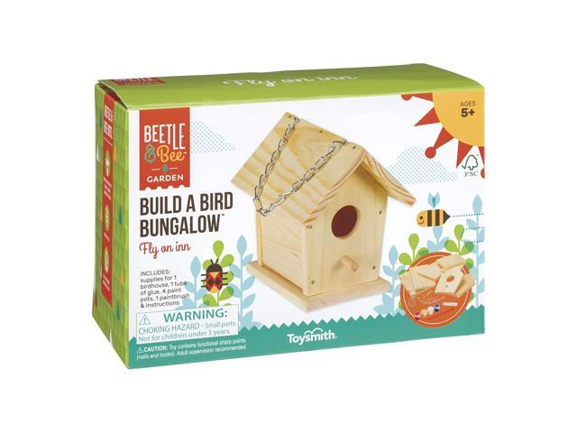 Toysmith Beetle & Bee Build A Bird Bungalow, Backyard Birdhouse Kit with Fsc Wood DIY Arts & Crafts House Gardening for Kids & Teens, Boys & Girls (993328304687 Arts & Entertainment) photo