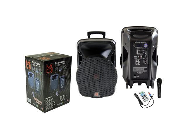 Mr. Dj DSP-4000 15' 2 Way Portable Speaker with Bluetooth, FM Radio, USB/SD and DSP Player Technology (DSP4000) (993288075832 Arts & Entertainment Musical Instruments) photo