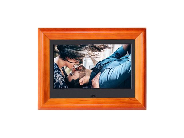 Digital Photo Frames SZSUPER 7 Inch Digital Picture Frame High Resolution LCD(16:9) Electronic Electric Pictures Video Music Calendar Timer Auto. photo