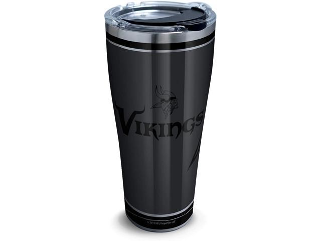 Tervis NFL 100-Minnesota Vikings Stainless Steel Insulated Tumbler with Clear and Black Hammer Lid, 30 oz, Silver photo