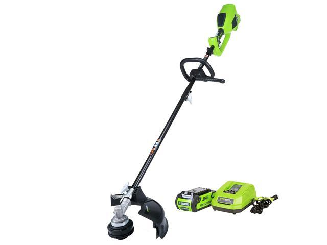 Greenworks 14-Inch 40V Cordless String Trimmer (Attachment Capable), 2.0 AH Battery Included 2100702 (993265280082 Home & Garden Lawn & Garden) photo