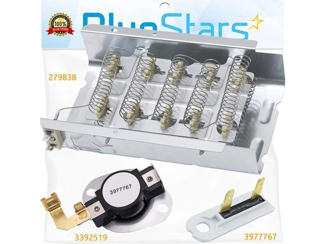 279838 Dryer Heating Element Thermal Fuse Complete Dryer Repair Kit By Blue Sta photo