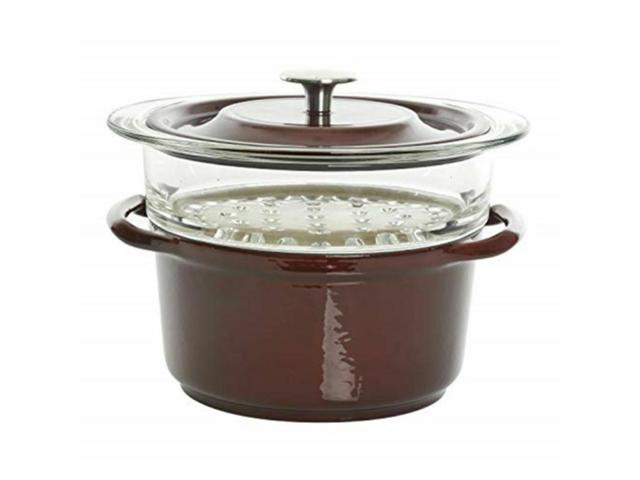 Gibson 3 Quart Enameled Cast Iron Dutch Oven Lid and Steamer 126366.03 photo