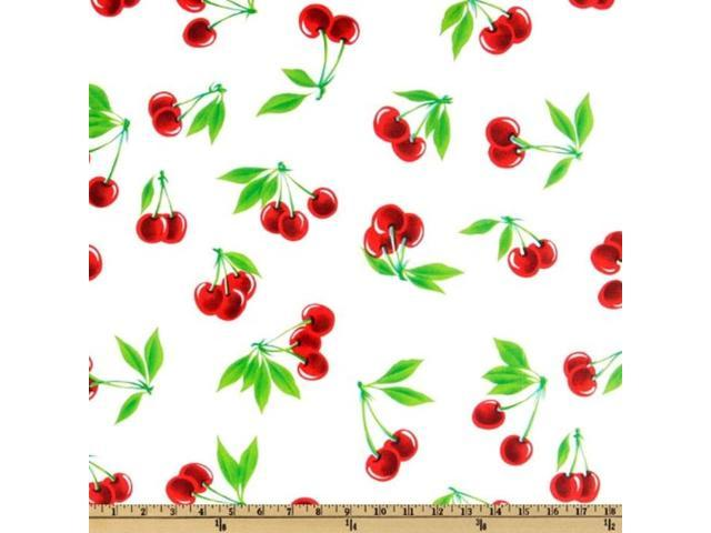 OilCloth International Oilcloth Stella Cherries, Yard, White (921469882009 Home & Garden Decor Napkin Rings) photo