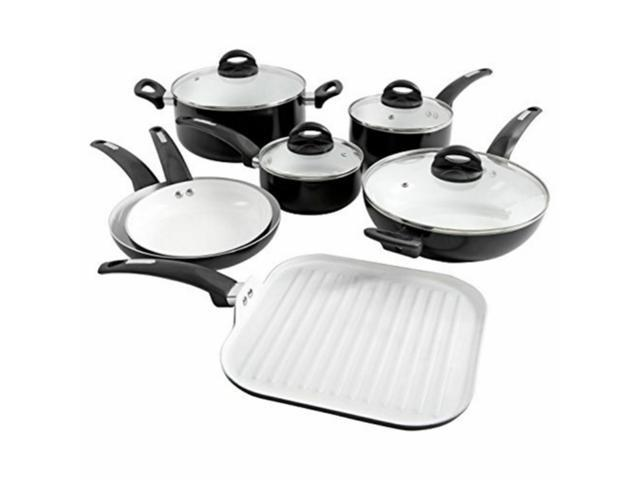 Gibson Oster Herstal 107307.11N 11 Piece Cookware Set Ceramic White photo