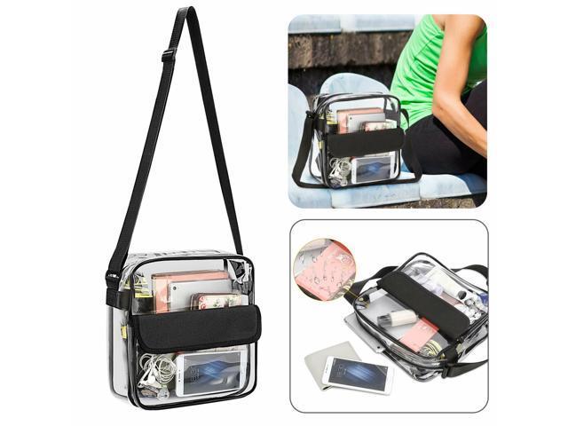 Clear Plastic Tote Bag Women Transparent Handbag Zip Purse Stadium Security (Hardware Tools) photo
