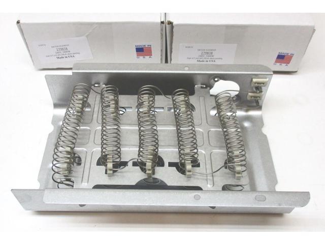 WP279838 2pk for Whirlpool Roper Kenmore Dryer Heater Heng Element Coil photo