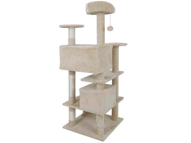 Cat tree Tower Great For Multiple Cats Scratcher Play House Condo Pet House 53' (Home & Garden Household Supplies) photo
