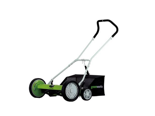 Greenworks 25062 No Gas Contact Free 18 Inch Reel Lawn Mower with Grass Catcher (993299771662 Home & Garden Lawn & Garden Lawn Mowers) photo