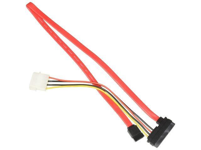 CP TECHNOLOGIES CL-SATA-18-LP4 SATA Cable 1.5 7 Pin Serial ATA (F) to 4 Pin Internal Power, Red (993295016736 Electronics Cables) photo