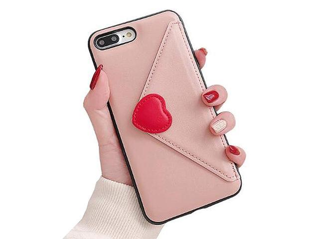 UnnFiko Leather Wallet Case Compatible with iPhone X/iPhone Xs, Girly Purse Flip Card Pouch Stand Holder Cover Case for Girls Women(Pink, iPhone X/Xs) (921466184694 Electronics Communications Telephony Mobile Phone Cases) photo
