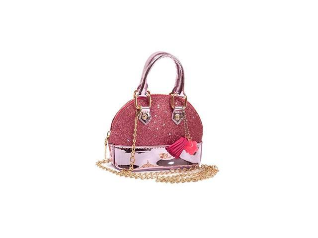 Toddler Girls Mini Sequins Handbags Random Color Pendant Little Girls Shell Shape Crossbody Bag Princess Purses Pink (Toys & Games Toys) photo