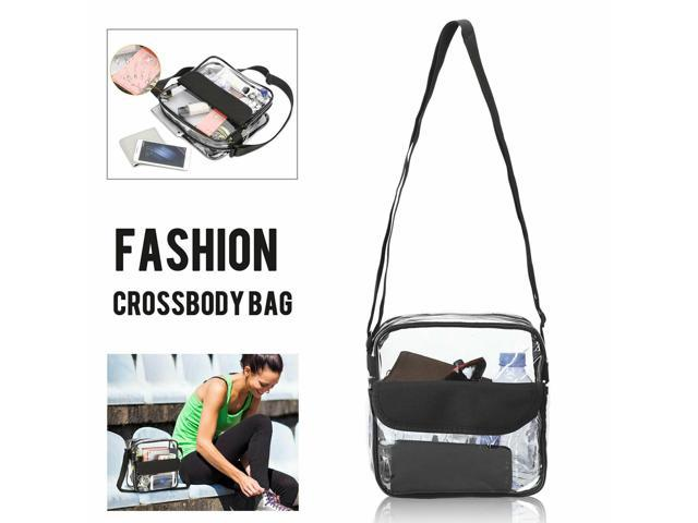 Clear Tote Bag Transparent Purse Secure Zip Closure Handbag Stadium Approved (Luggage & Bags) photo