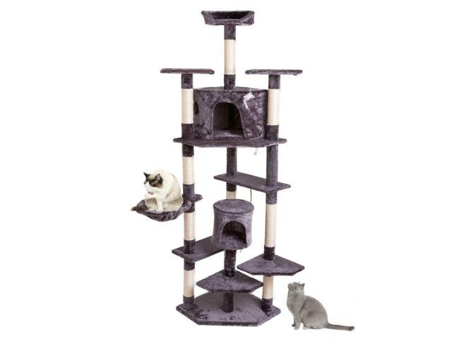 80' Scratching Post Cat Tree House Condo Tower Playing Climbing Furniture Pet (Home & Garden Lawn & Garden Gardening Gardening Tools Wheelbarrows) photo