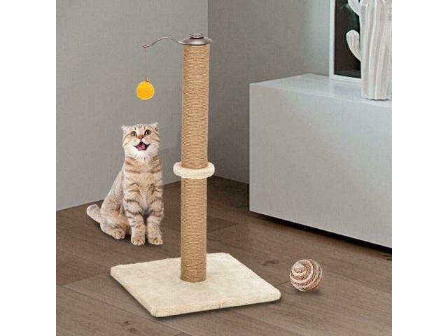 Beige Cat Tree Bed Furniture Scratching Tower Post Condo Pet House M14A (Home & Garden Lighting Lamps) photo
