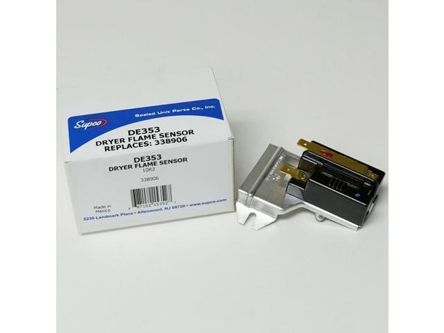 Gas Dryer Heat Sensor for WP338906 Whirlpool Kenmore PS344761 AP2910747 photo