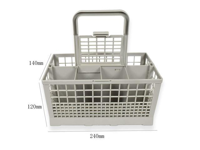 Universal Dishwasher Cutlery Basket 24x14x12cm Dish Washer Parts Plastic Storage Basket For Bosch Whirlpool Maytag Dishwashers photo