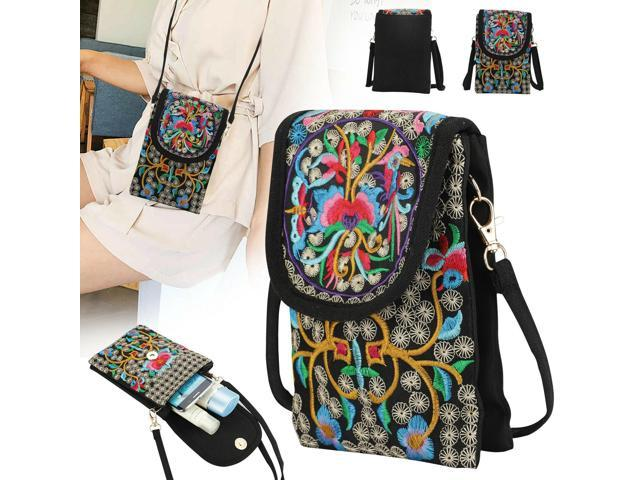 Latest Lady Cell Phone Bag Wallet Retro Embroider Purse Messenger Crossbody Bag (Luggage & Bags) photo