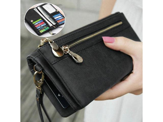 Women Lady Leather Wallet Card Holder Phone Bag Case Purse Handbag Retro Style (Electronics Computers Handheld Devices Pdas) photo