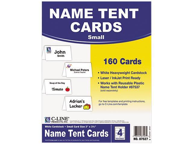 C-Line Products Inc CLI87527 Scored Tent Cardstock White 40 Box ...