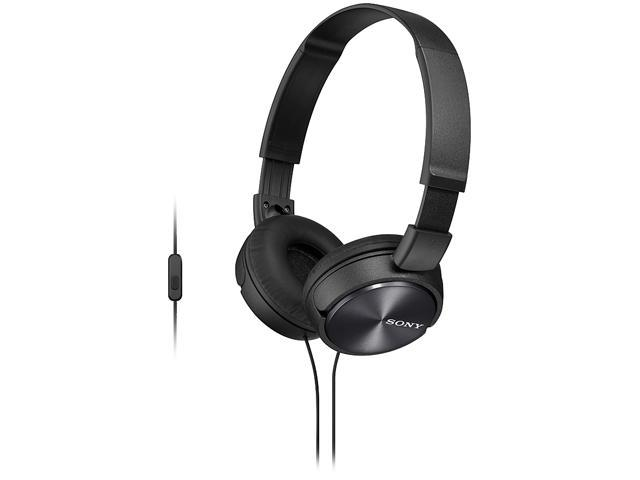 Sony MDR-ZX310AP/B ZX Series On-ear Headphones with Microphone (Black)