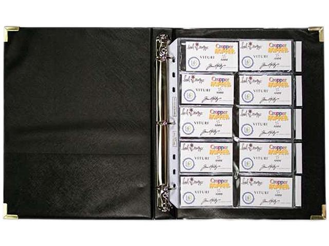 Anglers Company Ltd  ANG303 3-Ring Business Card Binder- 100 Card Cap-  8- 50in x11in - Black - Newegg com