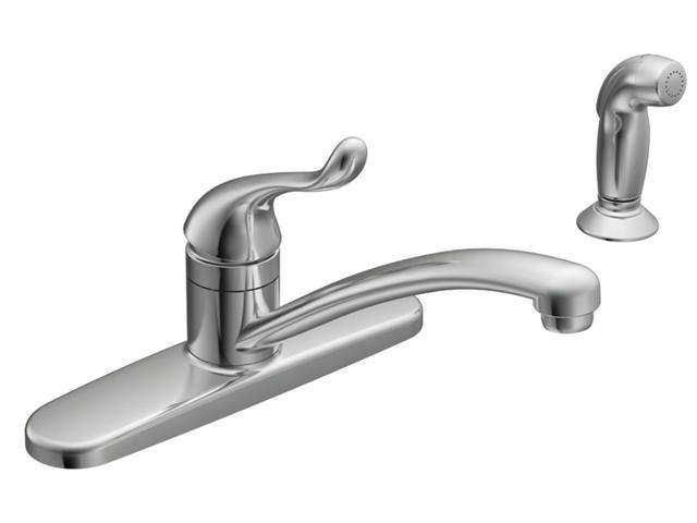 Moen Ca87530 Touch Control One Handle Kitchen Faucet With Side Sprayer Chrome Newegg Com