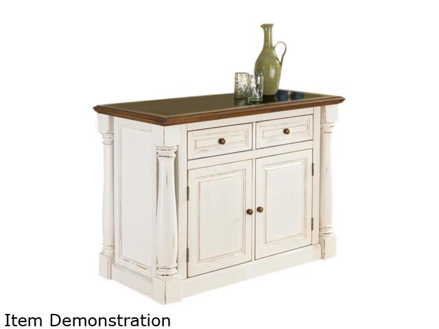 Home Styles 5021-94 Monarch Antiqued White Kitchen Island with Granite Top  - Newegg.com