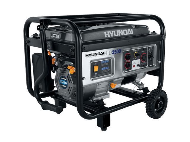 hyundai hhd3500 3500w 6 5hp portable generator newegg com rh newegg com