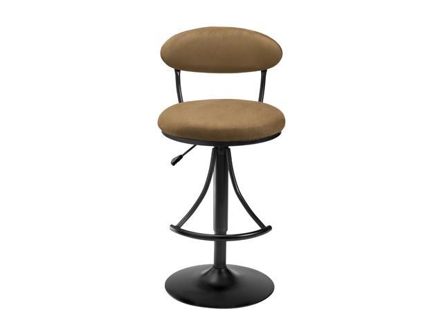 Remarkable Hillsdale Furniture Venus Adjustable Swivel Bar Stool With Bear Brown Faux Suede Gmtry Best Dining Table And Chair Ideas Images Gmtryco