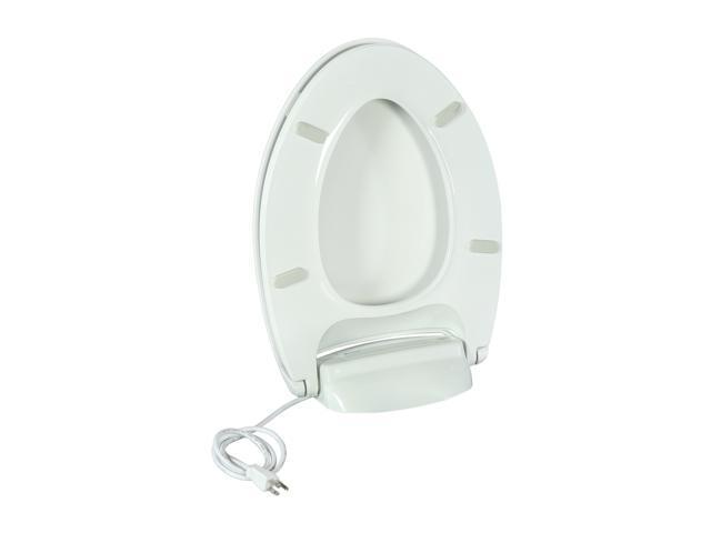 Super Brondell Br60 Ew Breezawarm Heated Toilet Seat Elongated White Newegg Com Bralicious Painted Fabric Chair Ideas Braliciousco