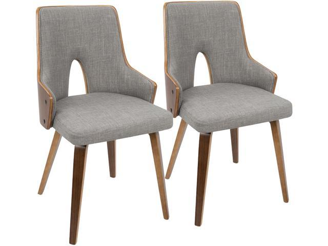 Awe Inspiring Lumisource Ch Stla Wl Lgy2 Stella Walnut And Light Grey Pdpeps Interior Chair Design Pdpepsorg