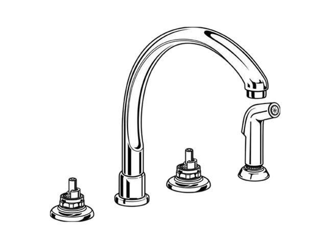 DELTA 2276-LHP Waterfall Kitchen Faucet Chrome Kitchen Faucet - Newegg.com