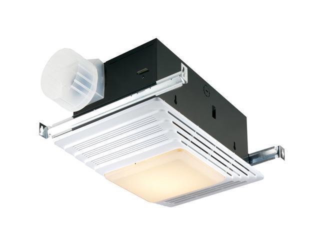 Broan 655 Bathroom Fan, Heater, Light, 70 CFM, 4.0 Sones
