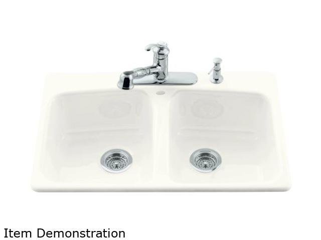KOHLER K-5942-4-0 Brookfield Self-rimming Kitchen Sink, 4-hole ...