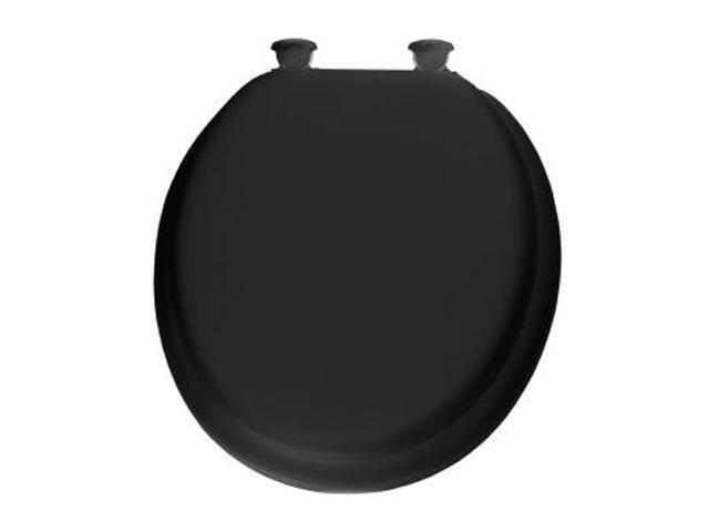 Tremendous Bemis 13Ec 047 Soft Round Closed Front Toilet Seat Black Newegg Com Pdpeps Interior Chair Design Pdpepsorg