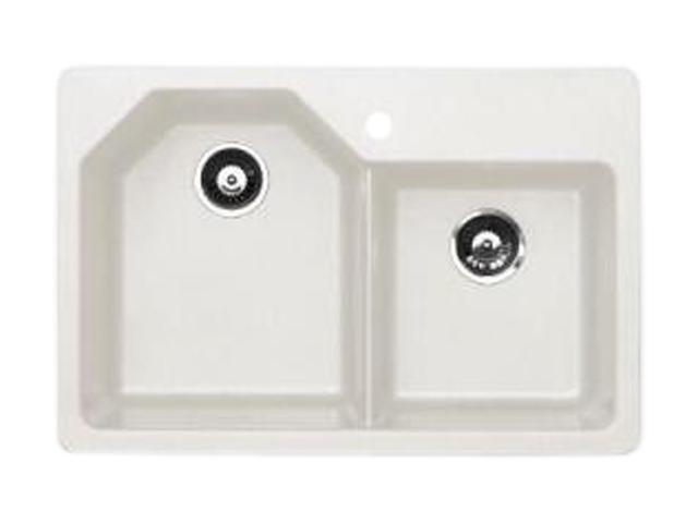 Astracast An20rwussk Premium Offset Double Bowl Kitchen Sink White