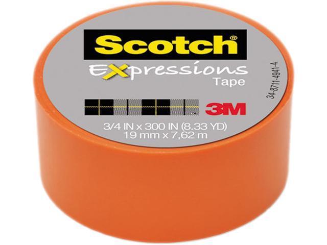 "Orange 8.33 Yards Scotch Expressions Tape Removable 3 M 3//4/"" X 300/"""