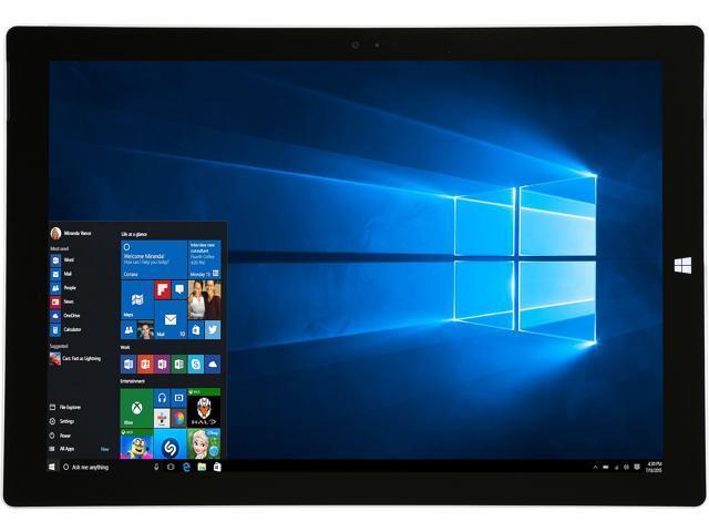 Microsoft  Surface Pro 3 12 inch Display Intel Core i5 8GB RAM 256GB SSD Silver